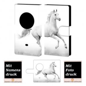 Nokia Lumia 1020 Pferd Handy Tasche Hülle Foto Bild Druck