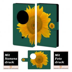 Nokia Lumia 1020 Sonnenblumen Handy Tasche Hülle Foto Bild Druck