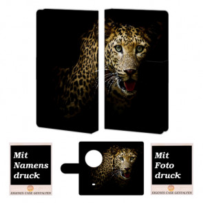 Personalisierte Handyhülle für Nokia Lumia 1020  mit Leopard + Fotodruck