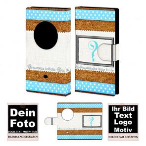 Ledertasche für Nokia Lumia 1020 mit Foto und Text zum selbst gestalten