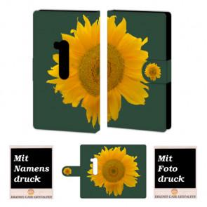 Nokia Lumia 920 Sonnenblumen Handy Tasche Hülle Foto Bild Druck