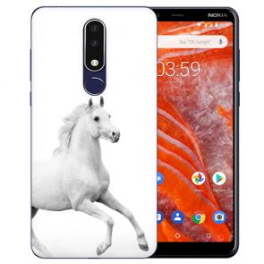 Silikon Schutzhülle TPU Case mit Pferd Bild Namen druck für Nokia 3.1 Plus