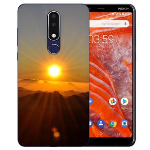 Silikon Schutzhülle TPU für Nokia 3.1 Plus mit Bild druck Sonnenaufgang