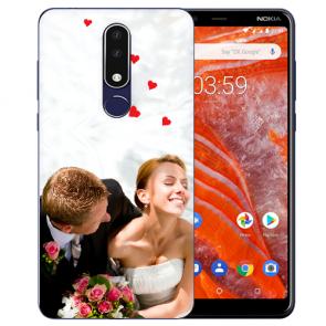 Silikon Schutzhülle TPU Case mit Foto Bild Namen druck für Nokia 3.1 Plus