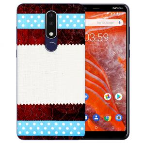 Silikon TPU Handy Hülle für Nokia 3.1 Plus mit Bild druck Muster