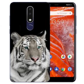 Silikon Schutzhülle TPU Case für Nokia 3.1 Plus mit Tiger Bild Namen druck