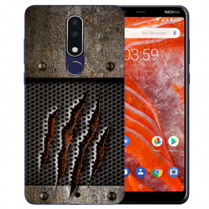 Silikon Schutzhülle TPU für Nokia 3.1 Plus mit Bild druck Monster-Kralle