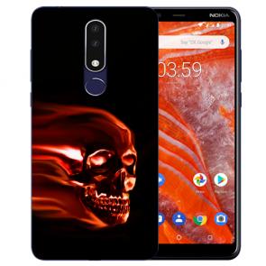 Silikon Schutzhülle TPU für Nokia 3.1 Plus mit Bild druck Totenschädel