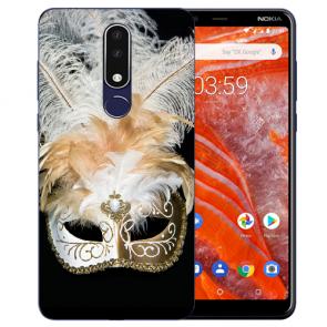 Silikon Schutzhülle TPU für Nokia 3.1 Plus mit Bild druck Venedig Maske