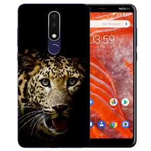 Silikon Schutzhülle TPU Case für Nokia 3.1 Plus mit Leopard Bilddruck