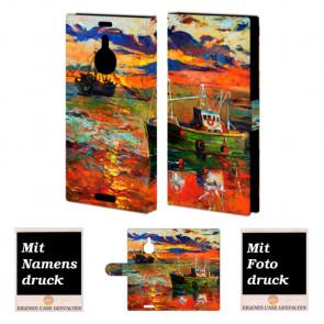 Nokia Lumia 1520 Schutzhülle Handyhülle mit Gemälde + Foto Druck