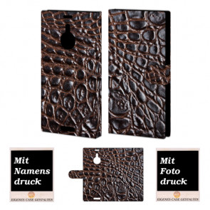 Nokia Lumia 1520 Krokodil Optik Handy Tasche Hülle Foto Bild Druck