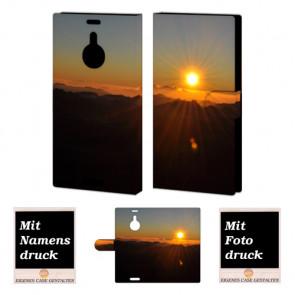 Nokia Lumia 1520 Individuelle Handyhülle mit Sonnenaufgang + Bilddruck Etui
