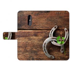 Handy Hülle mit Fotodruck Holz hufeisen für Nokia 3.2 Schutzhülle