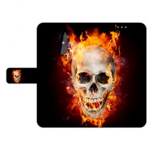 Handy Hülle mit Fotodruck Totenschädel Feuer für Nokia 3.2 Schutzhülle