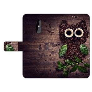 Personalisierte Handy Hülle mit Fotodruck Kaffee Eule für Nokia 3.2 Case