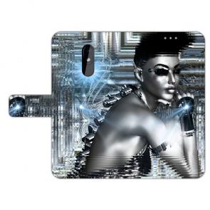 Individuelle Handy Hülle für Nokia 3.2 mit Fotodruck Robot Girl Tasche