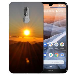 Silikon TPU Handy Hülle mit Bilddruck Sonnenaufgang für Nokia 3.2