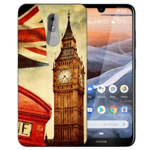 Silikon TPU Handy Hülle für Nokia 3.2 Case mit Bilddruck Big Ben London
