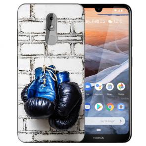 Silikon Schutzhülle TPU für Nokia 3.2 Case mit Bilddruck Boxhandschuhe