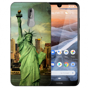 Silikon TPU Handy Hülle für Nokia 3.2 mit Freiheitsstatue Bilddruck