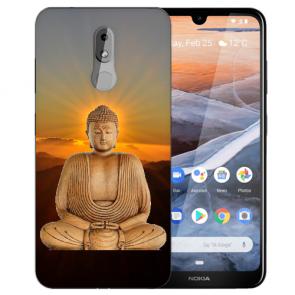 Silikon TPU Handy Hülle für Nokia 3.2 mit Frieden buddha Bilddruck