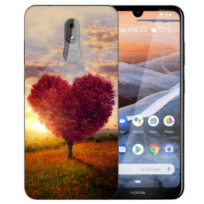 Silikon TPU Handy Hülle für Nokia 3.2 mit Bilddruck Herzbaum Etui