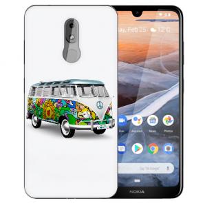 Silikon TPU Handy Hülle mit Bilddruck Hippie Bus für Nokia 3.2 Etui