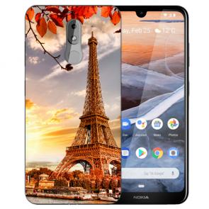Silikon TPU Handy Hülle für Nokia 3.2 Case mit Bilddruck Eiffelturm