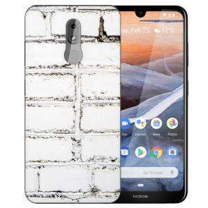 Silikon TPU Handy Hülle für Nokia 3.2 Case mit Bilddruck Weiße Mauer