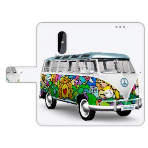 Personalisierte Handy Hülle mit Fotodruck Hippie Bus für Nokia 3.2 Etui