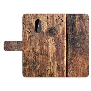 Personalisierte Handy Hülle für Nokia 3.2 mit Fotodruck HolzOptik