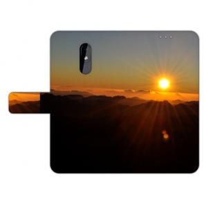 Schutzhülle Handy Hülle mit Fotodruck Sonnenaufgang für Nokia 3.2 Etui