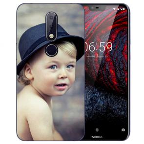 Nokia 6.1 Plus (2018) Silikon Schutzhülle TPU Case mit Foto Bild Namen druck