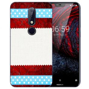 Silikon TPU Handy Hülle für Nokia 6 mit Bilddruck Muster Cover Case
