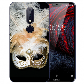 Silikon TPU Handy Hülle mit Bilddruck Venedig Maske für Nokia 6