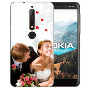 Nokia 6.1 (2018) Silikon Schutzhülle TPU Case mit Foto Bild Namen druck