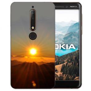 Silikon Handy Hülle mit Bilddruck Sonnenaufgang für Nokia 6.1 (2018)
