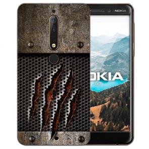 Silikon Handy Hülle mit Bilddruck Monster-Kralle für Nokia 6.1 (2018)