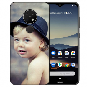 Nokia 7.2 Silikon Schutzhülle TPU Case mit Foto Bild Namen druck