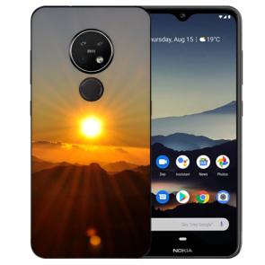 Schutzhülle Silikon TPU Hülle für Nokia 7.2 mit Bild Druck Sonnenaufgang