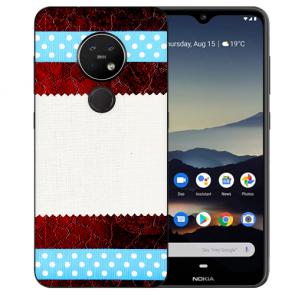 Schutzhülle Silikon TPU Hülle für Nokia 7.2 mit Bild Druck Muster Case