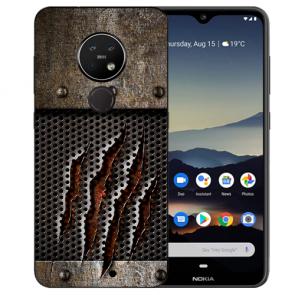 Schutzhülle Silikon TPU Hülle mit Bild Druck Monster-Kralle für Nokia 7.2