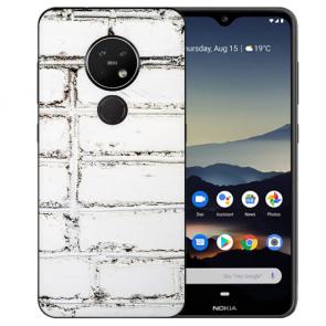 Nokia 7.2 Schutzhülle Silikon TPU Hülle mit Bild Druck Weiße Mauer Case