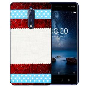 Nokia 8 TPU Hülle mit Fotodruck Muster Etui