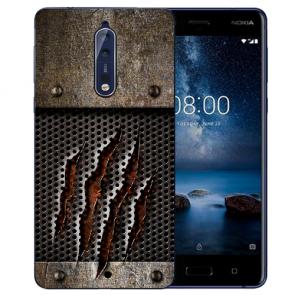 Nokia 8 TPU Hülle mit Fotodruck Monster-Kralle Etui