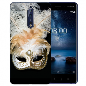 Nokia 8 TPU Hülle mit Fotodruck Venedig Maske Etui