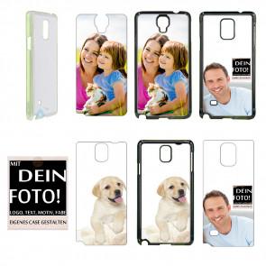 2D Hülle für  Samsung Galaxy Note 4 Hard case mit Foto und Text zum selbst gestalten.