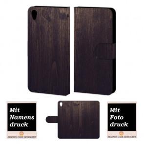 One Plus X Holz Optik Handy Tasche Hülle Foto Bild Druck
