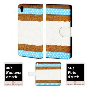 One Plus X Muster Handy Tasche Hülle Foto Bild Druck